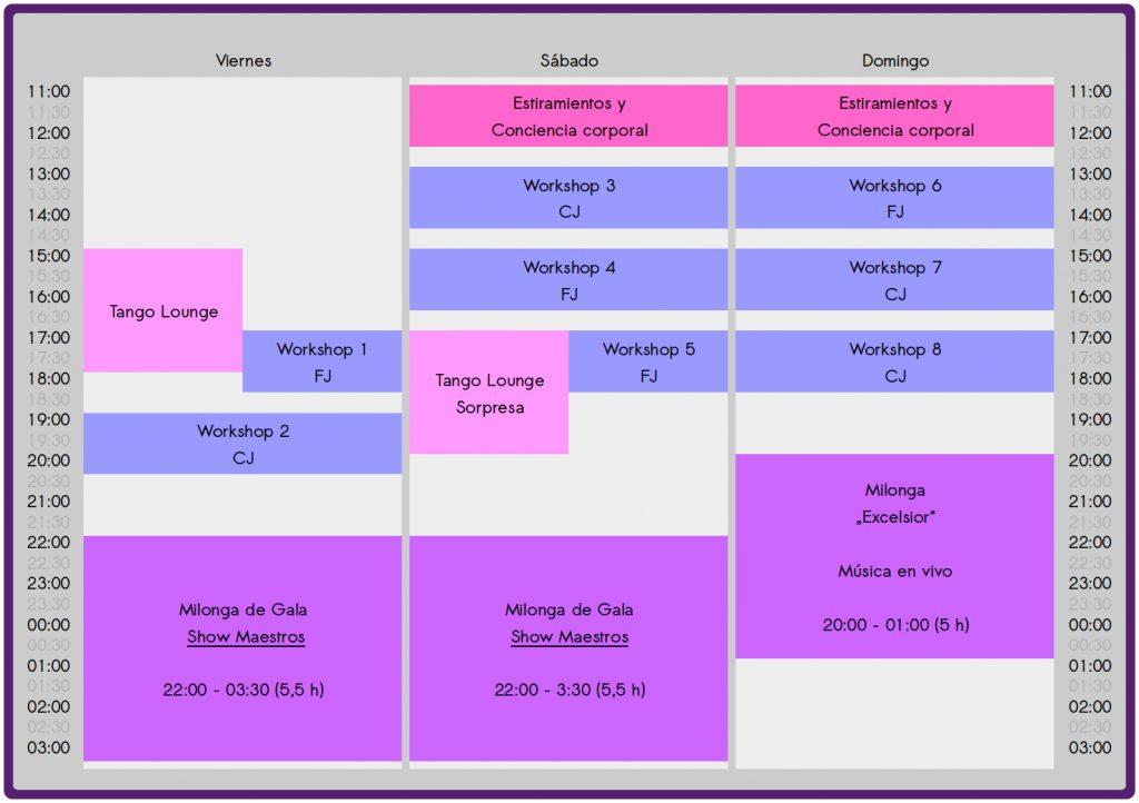 Timetable Cullera Tango Festival