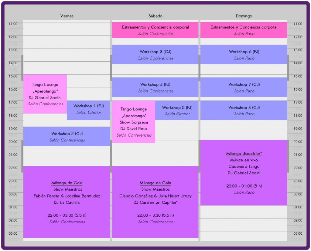 Zeitplan Cullera Tango Festival